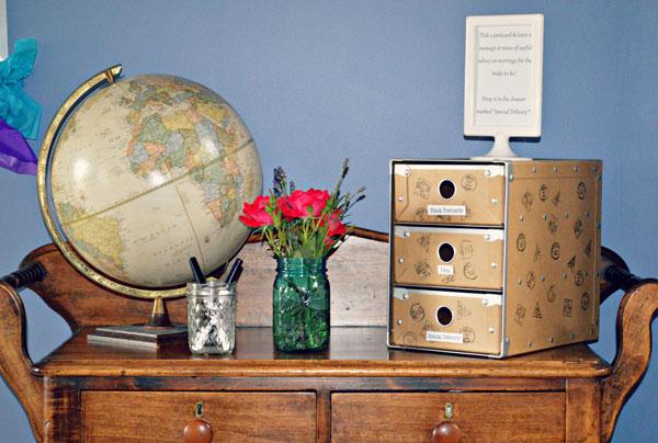 Globo terrestre na decoração