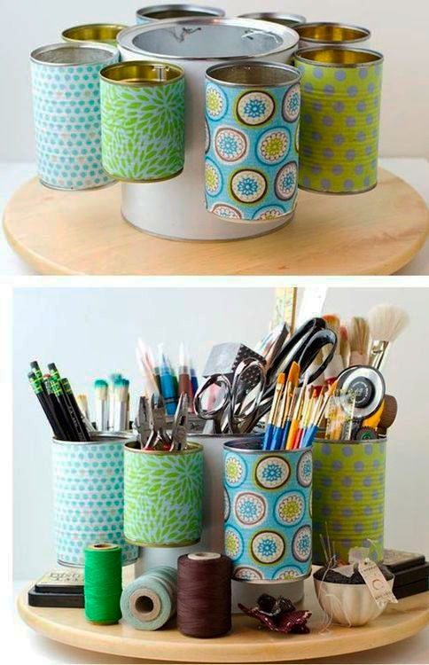materiais recicláveis na decoração