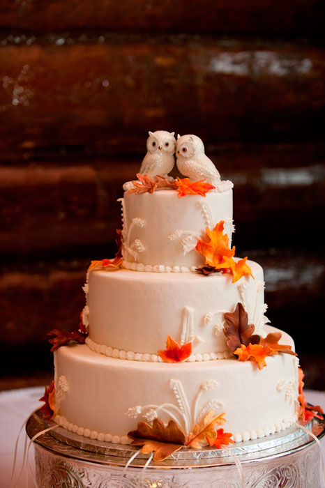 bolo de casamento de outono