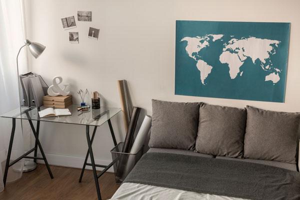 mapa na decoração