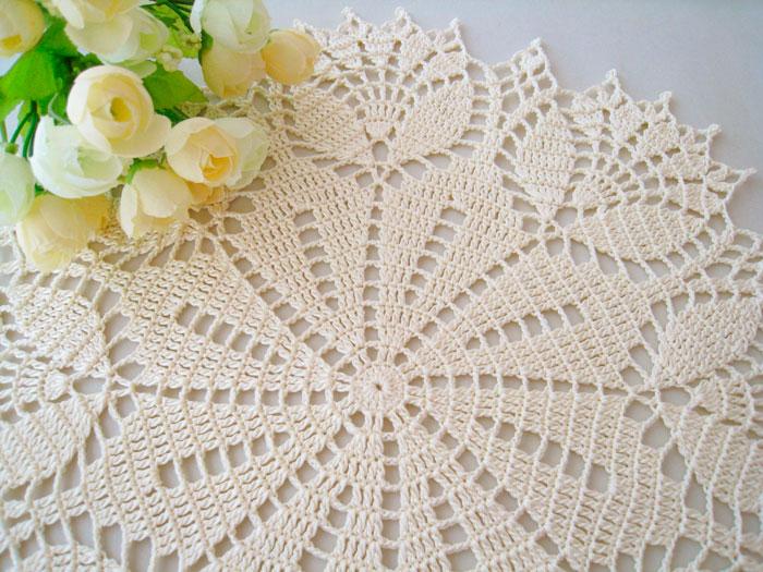 peças artesanais de croche na decoração