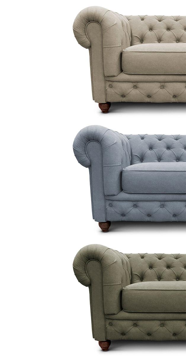 Sofá chesterfield Iaza móveis