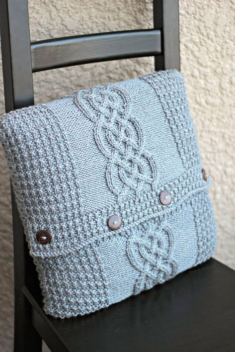 tricot na decoração