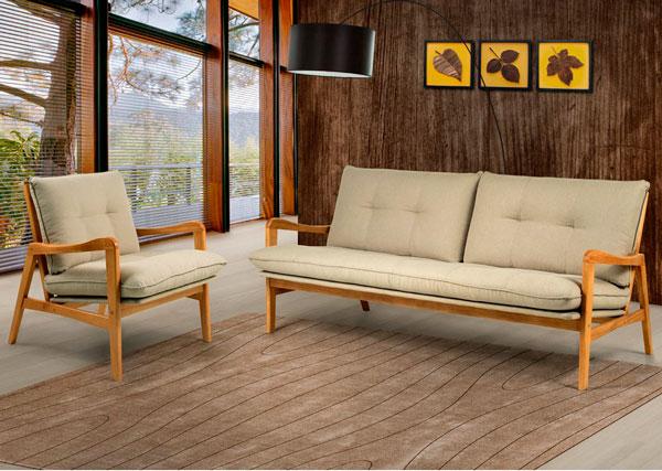 Sofá de madeira  Iaza móveis