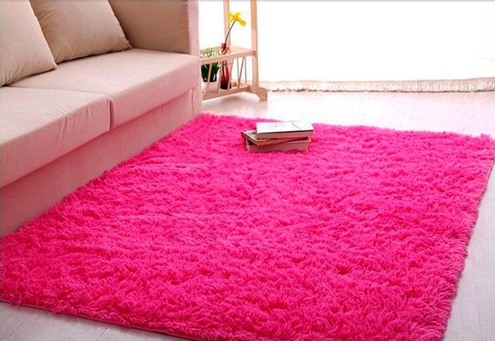 tapete rosa na decoração