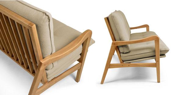 Sofá de madeira Oslo Iaza móveis
