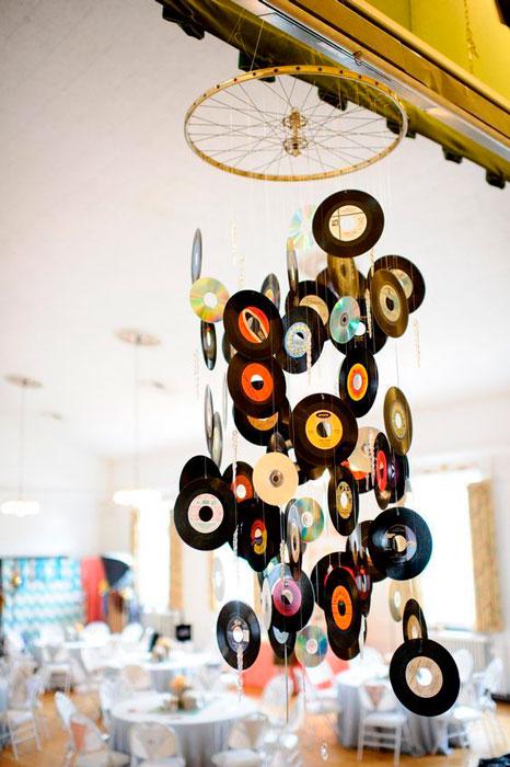 discos de vinil na decoração