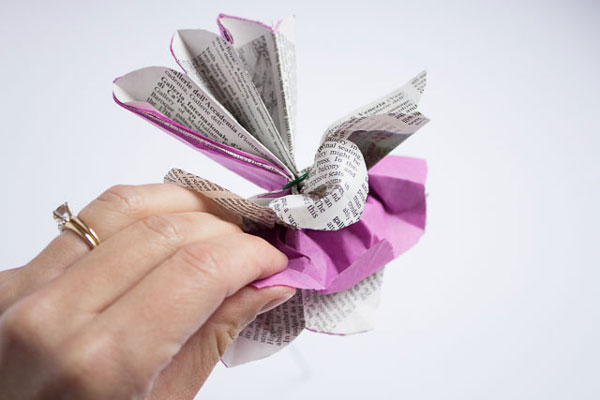 Flor de papel DIY
