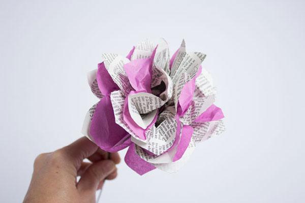 DIY Flor de papel