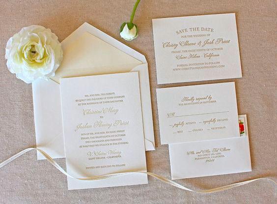 Convite para casamento clássico