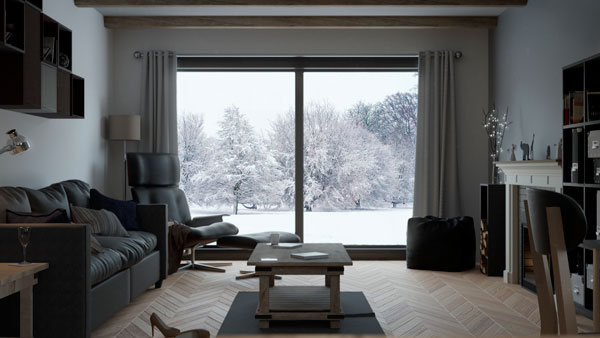 cinza na decoração de inverno