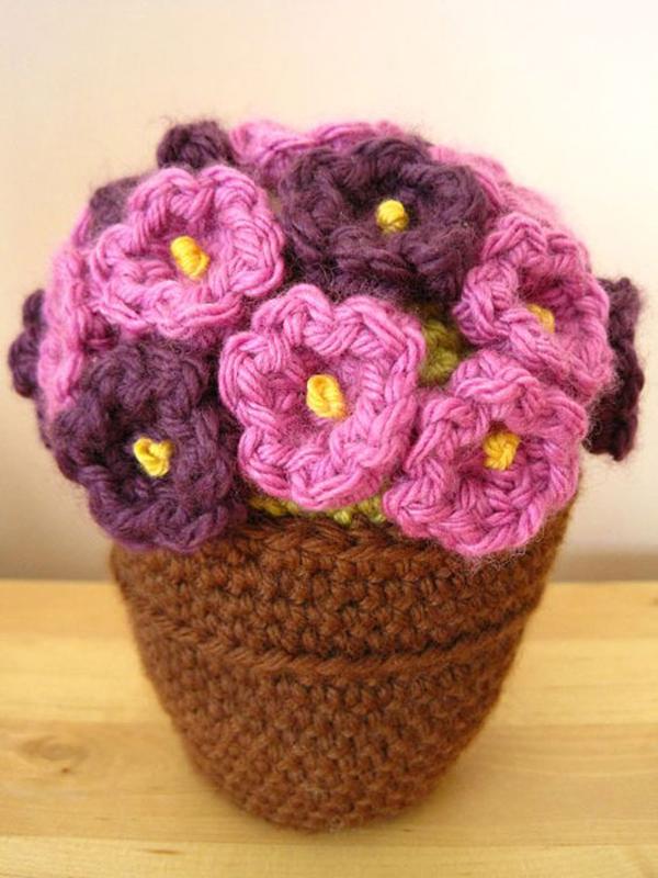 faça você mesmo flores de crochê