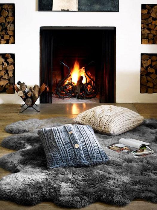 Tapete na decoração para o inverno