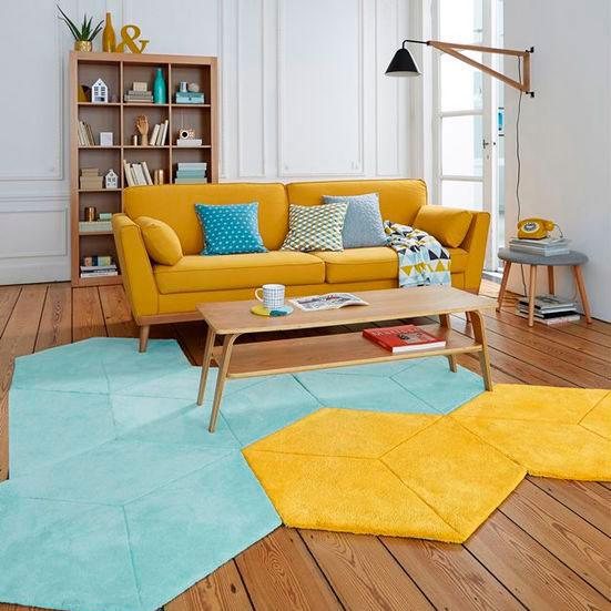 tapetes na sala de estar