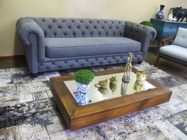 sofá Chesterfield na decoração