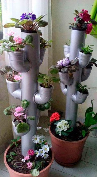 canos de pvc na decoração