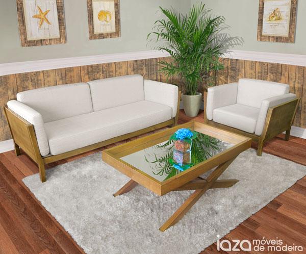 Móveis de madeira na decoração