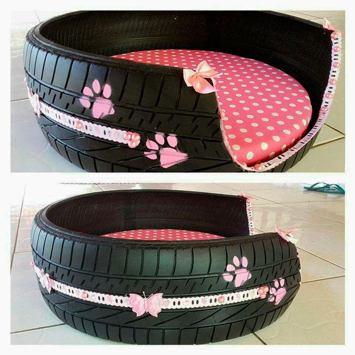 pneus na decoração