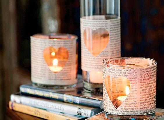 Velas românticas na decoração