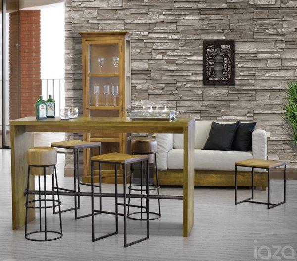 espaço gourmet integrado com sala