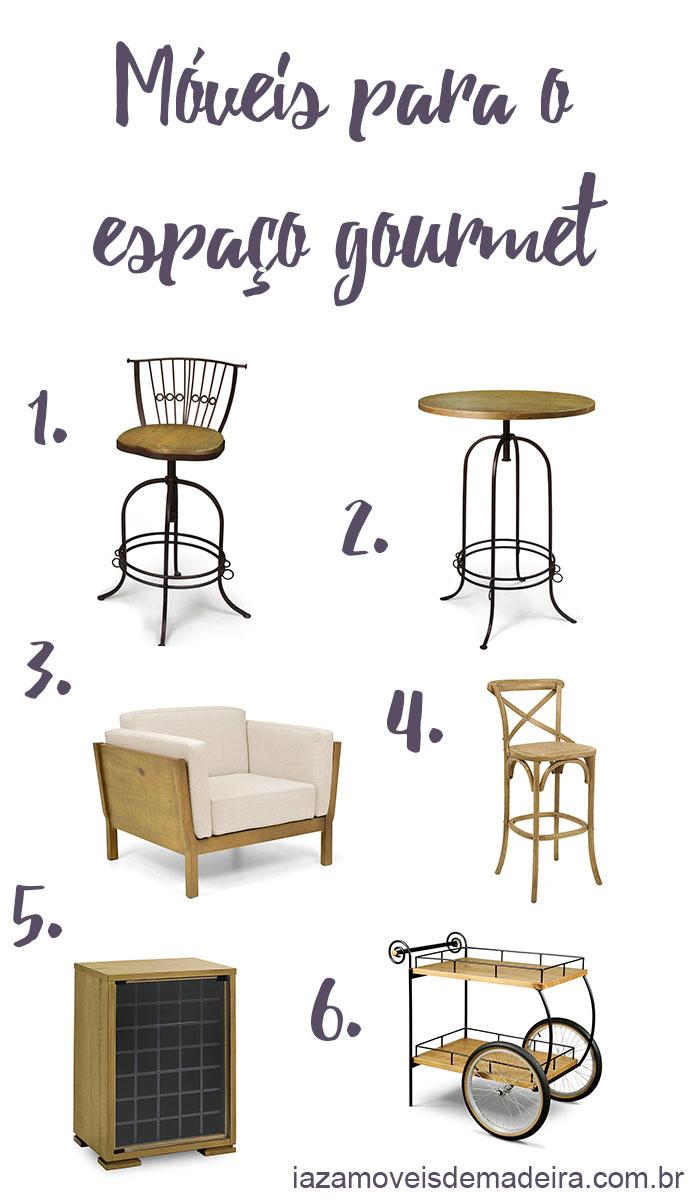 móveis para espaço gourmet