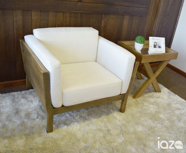 poltrona de madeira iaza móveis