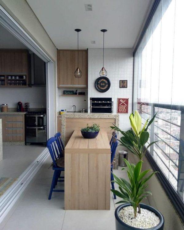 espaço gourmet na varanda