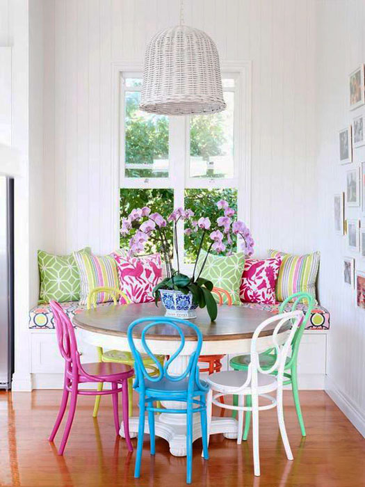 apartamento rústico colorido