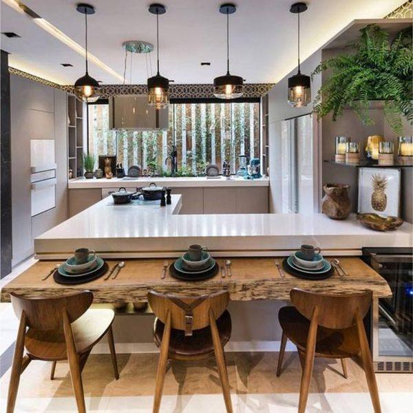 espaço gourmet integrado