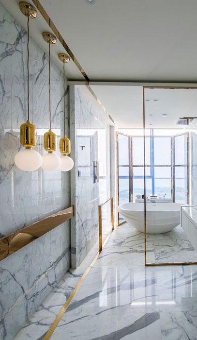 Decoração metálica para banheiro
