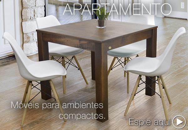 Móveis de madeira para apartamento