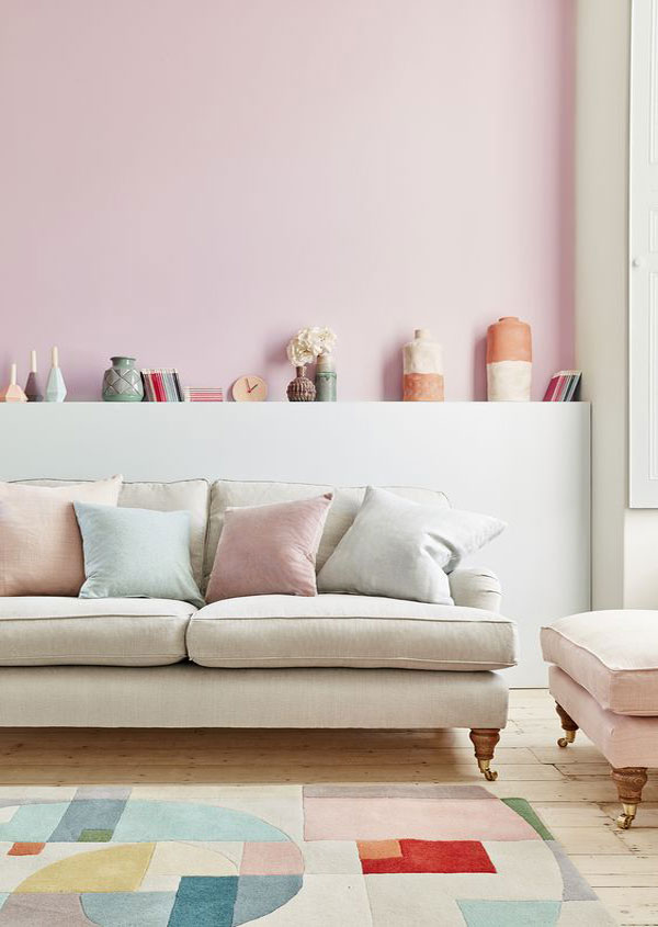 sala de estar candy colors