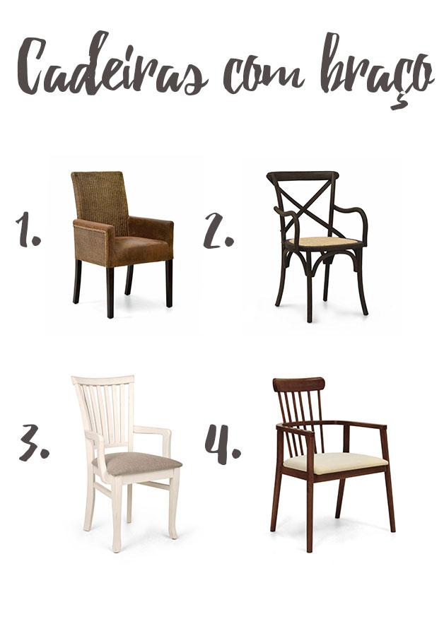 cadeiras para decoração com braço