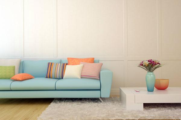 sala de estar com candy colors