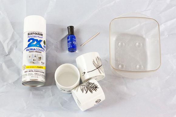 Como fazer vaso com efeito marmorizado