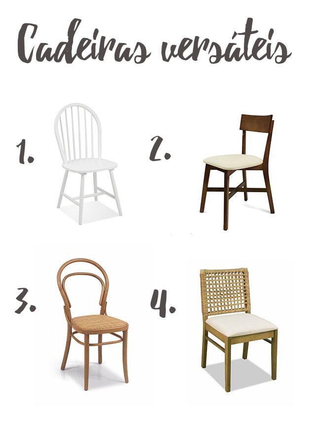Cadeiras versáteis - iaza móveis