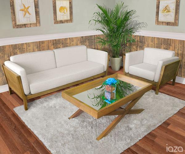 sala de estar rústica - blog iaza móveis