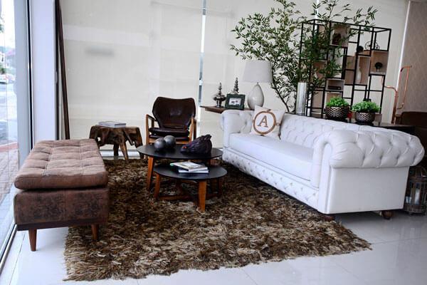 móveis para sala rústica
