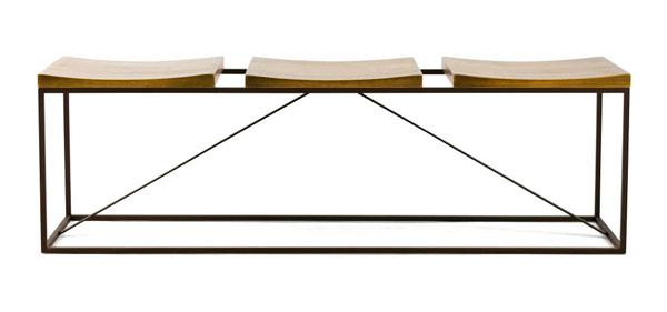 Banco de madeira e ferro - lançamentos de móveis iaza