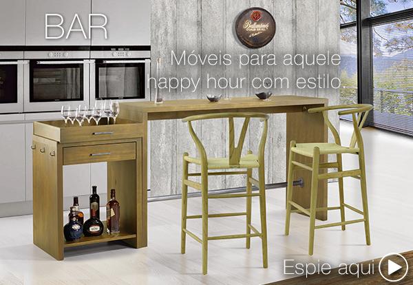 Móveis de madeira para bar