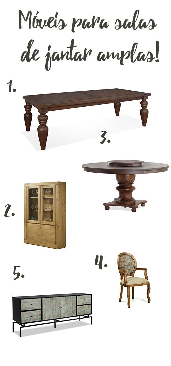 Móveis para salas de janta amplas