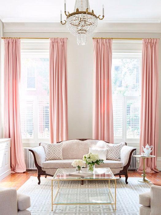 rosa claro na decoração - iaza blog