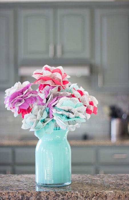 arranjo com flores de papel - iaza blog