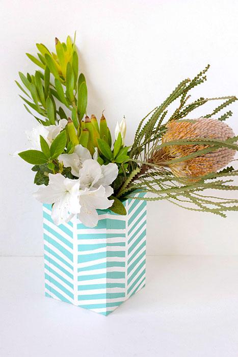 DIY - vaso de flor iaza blog