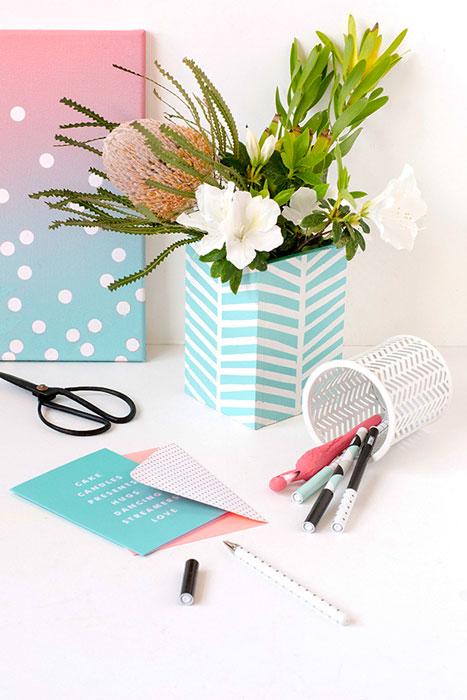 DIY - vaso de flor customizado