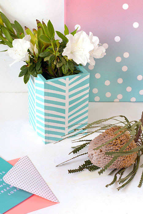 Como fazer vaso de flor personalizado