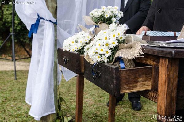 mesa console no casamento