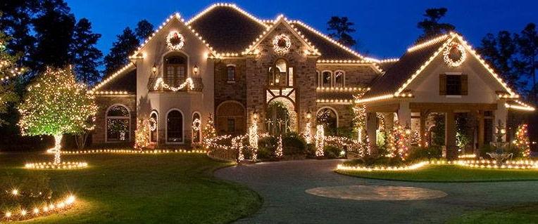 decoração de natal com luzes