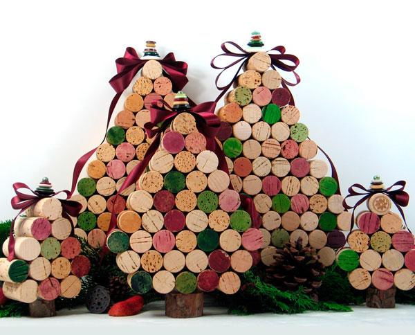 árvore de natal com rolhas de vinho-iaza blog