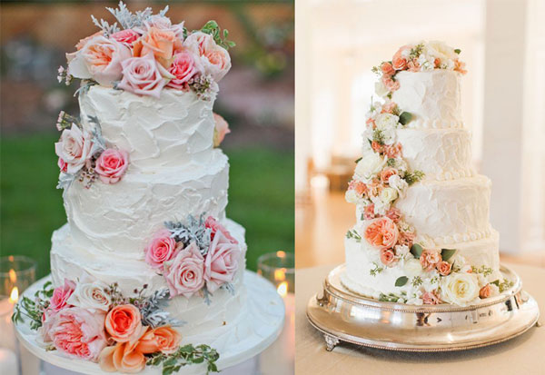 bolo de casamento de primavera